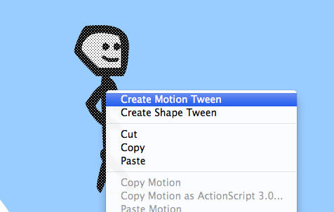 Select all and right-click to create a motion tween